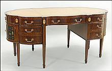 MAITLAND SMITH MAHOGANY DESK.