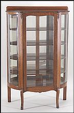 QUEEN ANNE STYLE OAK VITRINE.