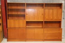 Dansk møbelproducent# Reol, teaktræ, 6 moduler