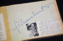 Autograph Album 1959 - 1963 Brisbane Musical