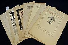 Complete Set of Cloister Press Specimen Sheets - Stanley Morison - 1921