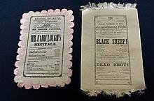 Brisbane Queensland Silk printed Theatre Programmes 1870s
