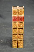 Two volumes fine leather bindings 1857