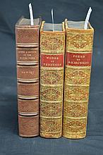 British Poetry - 3 volumes fine bindings