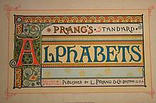 Prangs Standard Alphabets - Stunning Type Specimen Book - Published 1886