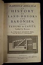 1741 History of Land Honours and Baronets Heraldy