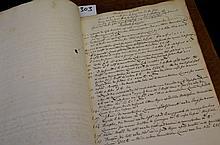19th century manuscript book