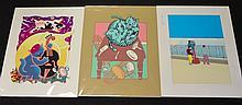 3 x Screen Prints - New York Niagara Falls 1970s - 1990s