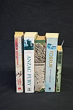 5 x books - Australian Military WW2 Tobruk and Middle East