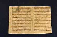 Early 9th century manuscript leaf from a book