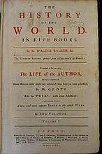 1736 Walter Raleigh History of the World