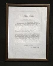 1831 Testimonial  To George Augustus Robinson
