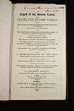 1801 Rare Antiquarian Law: Digest of Stamp Law
