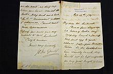 John Gould autograph letter signed