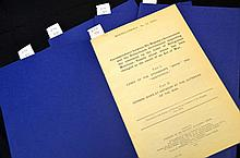 Five WWI British Parliamentary papers 1918.