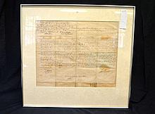 Rare Land Grant signed by John Hunter, second Governor of NSW