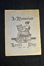 Anzac Day 1916 In Memoriam