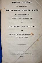 1838 Australian Politics