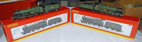 2 HORNBY RAILWAYS LOCOMOTIVES R2502 OVERTON GRANGE