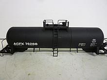 MODEL TRAIN ACID TANK: HO SCALE, ACF 20,000 GALLON MODEL TRAIN ACID TANK: HO SCALE, ACF 20,000 GALLON. ACID TANK CAR, C/P ACFX BLACK, MAINLINE FREIGHT, IN BOX