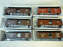 BOX CARS FOR MODEL TRAINS: ALL BY PROTO  2000 BOX CARS FOR MODEL TRAINS: ALL BY PROTO  2000 SERIES, HO, 50' SINGLE DOOR (6 TOTAL). ALL DIFFERENT, BRAND NEW IN BOXES.
