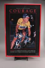 Signed 1995 Lance Armstrong Courage Poster
