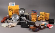 Polaroid Land Camera and Camera Accessories