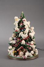 Danbury Mint Light Up Bichon Frise Christmas Tree