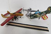 3 VINTAGE TOY AIRPLANES