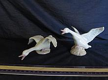 KPM CERAMIC GEESE FIGURINES (PAIR)