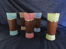 RETRO SATIN GLASS TUMBLERS (6)
