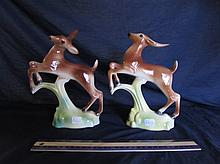 MCCULLOCH CERAMIC LEAPING GAZELLES (PAIR)