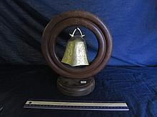 CHINESE  DINNER BELL WITH CIRCULAR WOOD FRAME