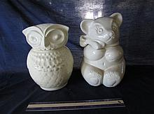 VINTAGE CERAMIC COOKIE JARS (2)