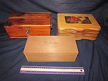 VINTAGE WOODEN BOXES (3)
