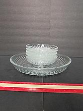 CLEAR GLASS DESSERT SET (6)