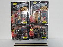 STAR TREK MOVIE SERIES ACTION FIGURES (4) ALL ARE IN ORIGINAL PACKAGING, 1995, KRUGE, SAAVIC, UHURA, & CHANG