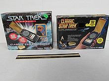 STAR TREK CLASSIC COMMUNICATOR BOXES (2) BOXES DO NOT INCLUDE STARFLEET STANDARD COMMUNICATOR DEVICES
