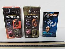 2 STAR TREK CUPS & BOTTLE OPENER ALL ARE NEW IN UNOPENED ORIGINAL PACKAGING, U.S.S. ENTERPRISE BOTTLE OPENER 2008, STAR TREK NERO & SPOCK GLASS CUPS 2008