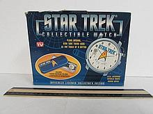 STAR TREK COLLECTIBLE WATCH PLAYS ORIGINAL STAR TREK THEME SONG AT THE TOUCH OF A BUTTON, COLLECTOR'S EDITION