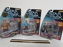 STAR TREK FIGURES (3) ALL ARE IN ORIGINAL PACKAGING, EDITH KEELER, DR. JULIAN BASHIR, & CONSTABLE ODO