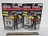STAR TREK SPACE TALK SERIES FIGURES (2) BOTH ARE IN ORIGINAL PACKAGING, Q, & CAPTAIN JEAN-LUC PICARD FIGURES