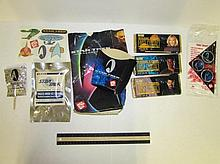STAR TREK COLLECTIBLE ITEMS STAR TREK GENERATIONS JACK IN THE BOX BAG, STAR TREK FREEZE-DRIED ICE CREAM, XHOCALATE BARS, & STICKERS