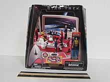 STAR TREK U.S.S. ENTERPRISE BRIDGE ORIGINAL PACKAGING, INCLUDES BRIDGE FLOORPLAN PLAYMAT, CAPTAIN KIRK FIGURE INCLUDED