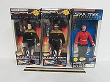 STAR TREK THE NEXT GENERATION FIGURES (3) ALL ARE IN ORIGINAL PACKAGING, COLLECTOR SERIES, LT MONTGOMERY SCPTT, LIEUTENANT COMMANDER DATA, & LIEUTENANT COMMANDER GEORDI LAFORGE