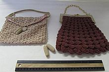 PAIR OF VINTAGE HANDBAGS
