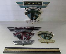 SNAP ON METAL LOGOS (3)