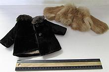 VINTAGE DOLL FUR COATS (2)