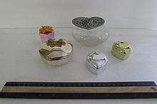 5 ASSORTED VANITY TRINKET BOXES