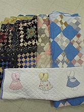 4 ASSORTED VINTAGE QUILTS